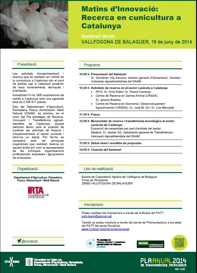 Recerca en cunicultura a Catalunya