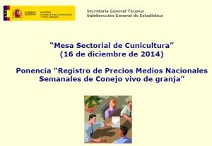 Mesa Sectorial Cunicultura 2014
